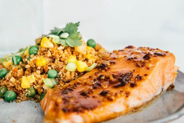 Miso Salmon and Cauliflower Rice