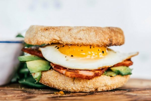 Olivia McArthur Dietitian bacon and egg muffin